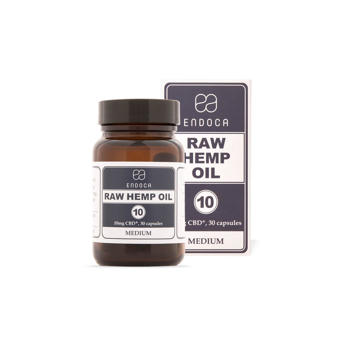 RAW Hemp Oil Capsules 300mg - 1200mg of CBD+CBDa