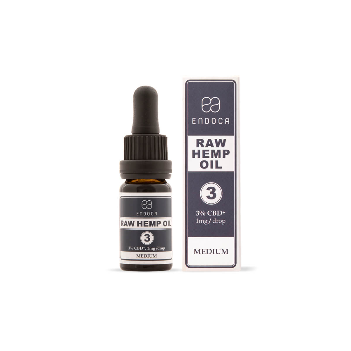 RAW Hemp Oil Drops 300mg CBD + CBDa (3%)