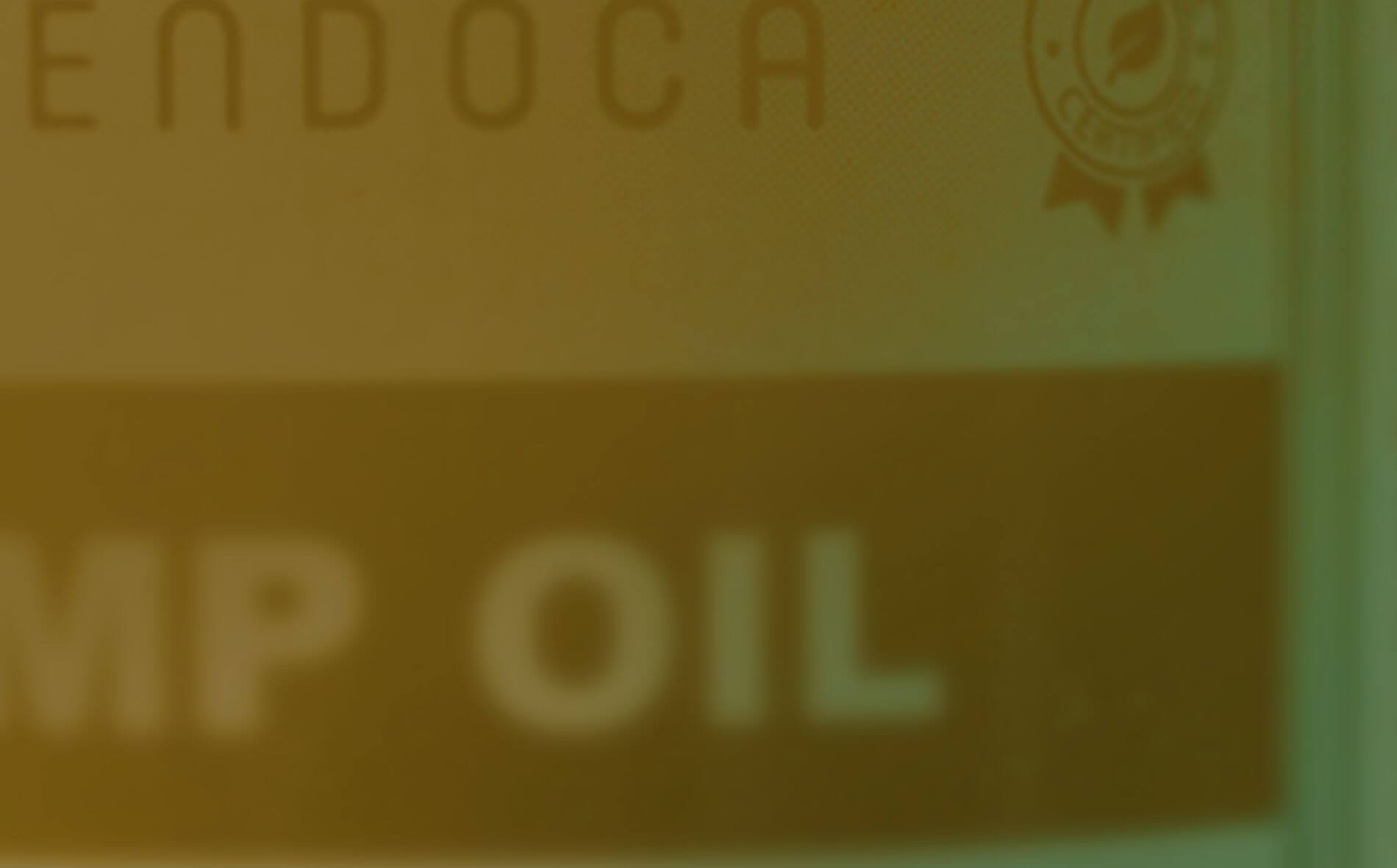 hemp oil close-up