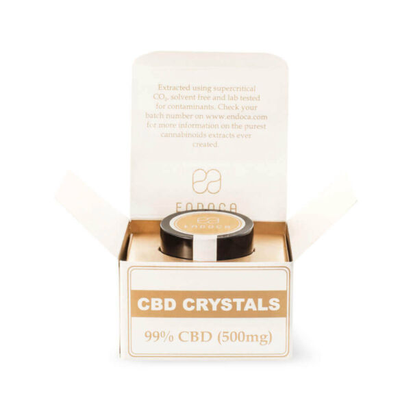 Cannabis Crystals 99% CBD Front Open Package