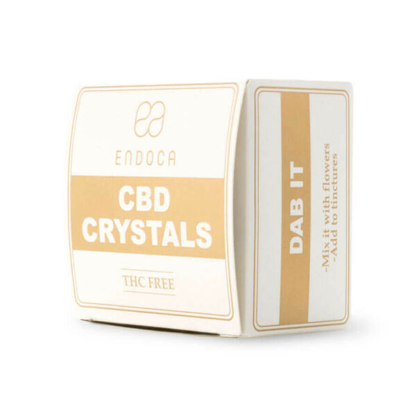 Cannabis Crystals 99% CBD Front Side Upstanding