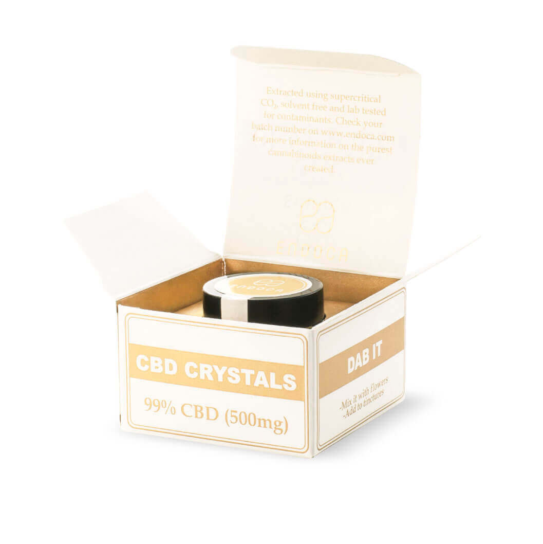 Cannabis Crystals 99% CBD Side Open Package