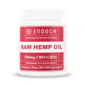 Capsules Hemp Oil 1500mg Raw FrontView