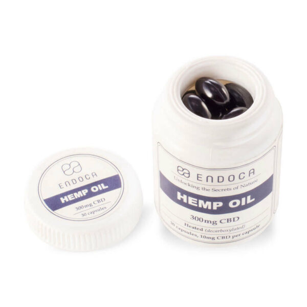 Capsules Hemp Oil 300mg Open PerspectiveView