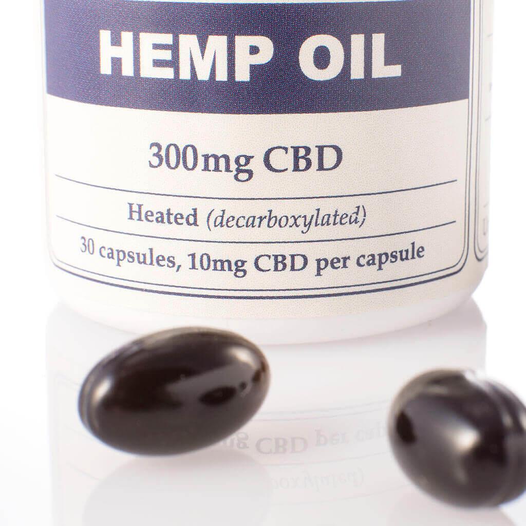 Capsules Hemp Oil 300mg Open PillsView2