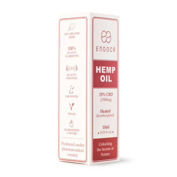 Hemp Oil Drops 1500mg Boxed PerspectiveView