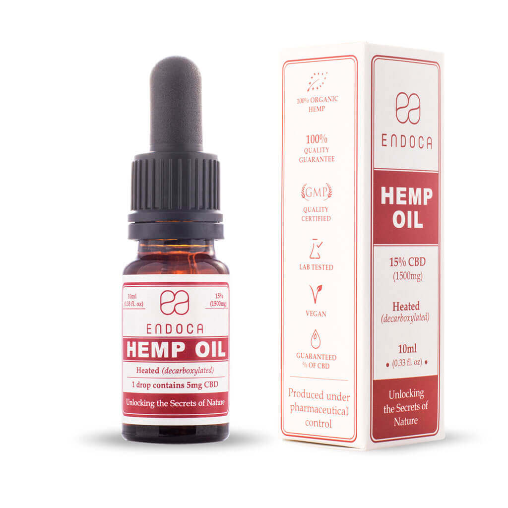 Hemp Oil Drops 1500mg Open PerspectiveView