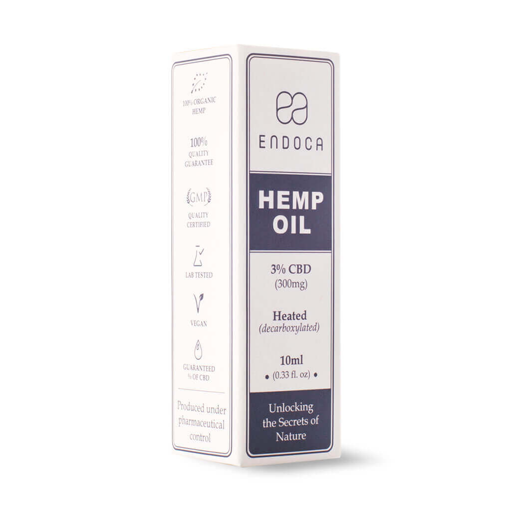 Hemp Oil Drops 300mg Boxed PerspectiveView