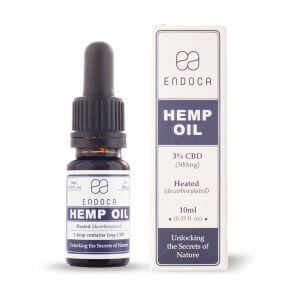 Hemp Oil Drops 300mg Open FrontView