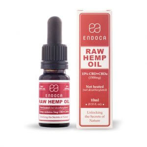 Hemp Oil RAW Drops 1500mg Open FrontView