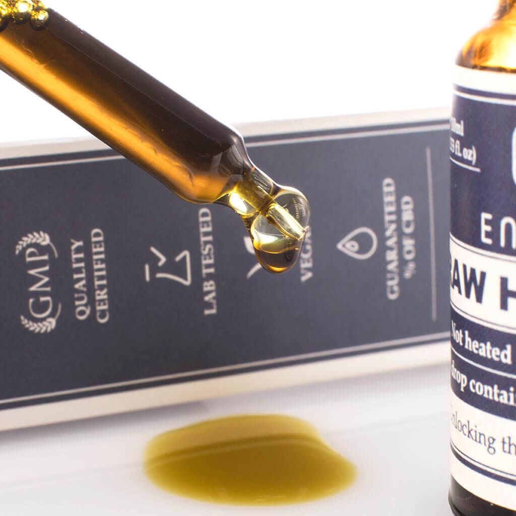 Raw Hemp Oil Drops 300mg CBD + CBDa (3%)