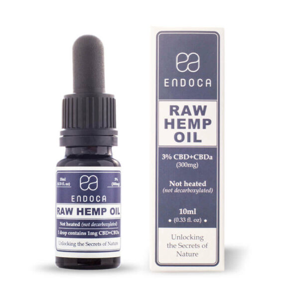 Hemp Oil RAW Drops 300mg Open FrontView