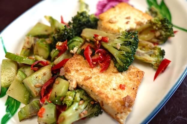 stress-busting stir fried tofu