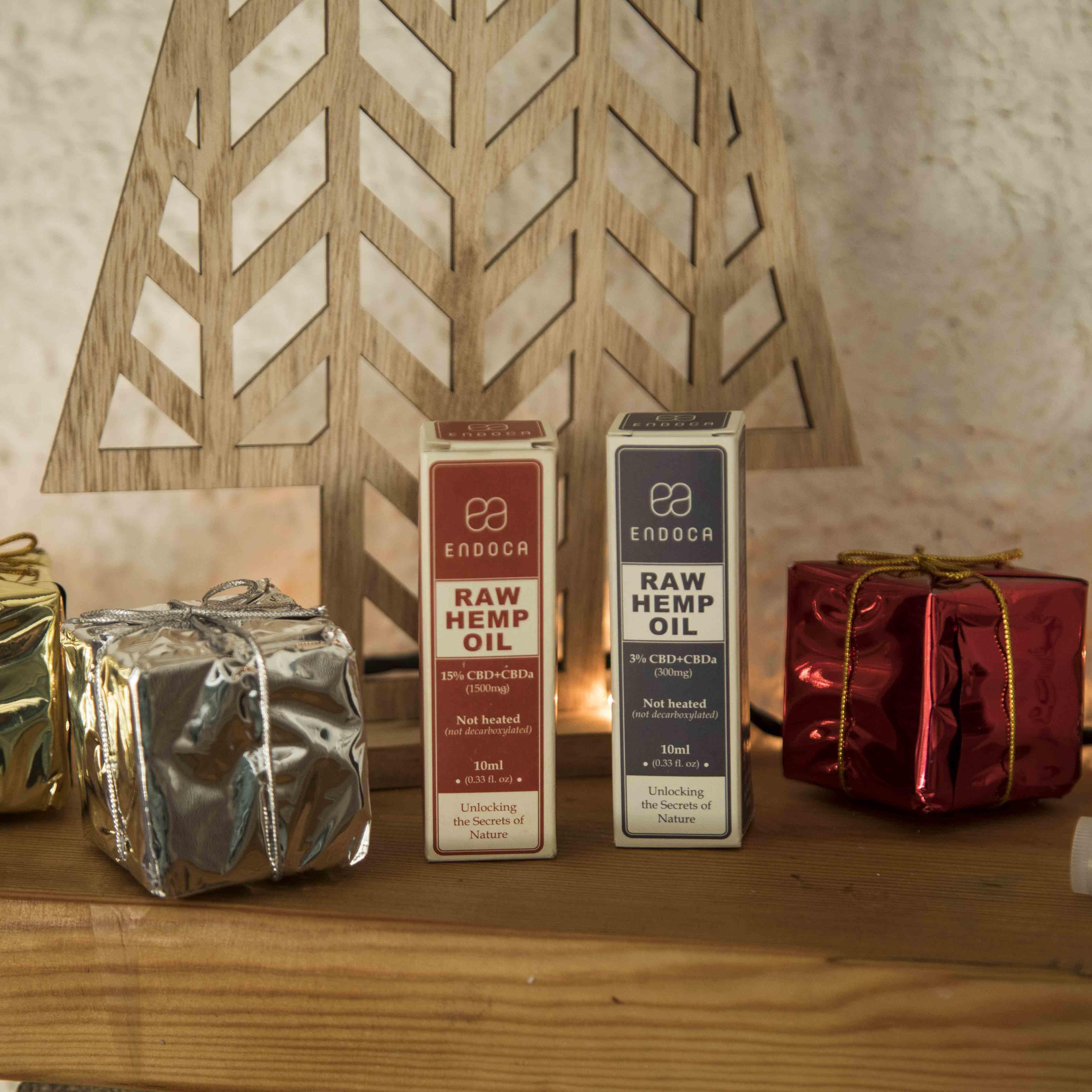 Endoca CBD oil drops Christmas gifts