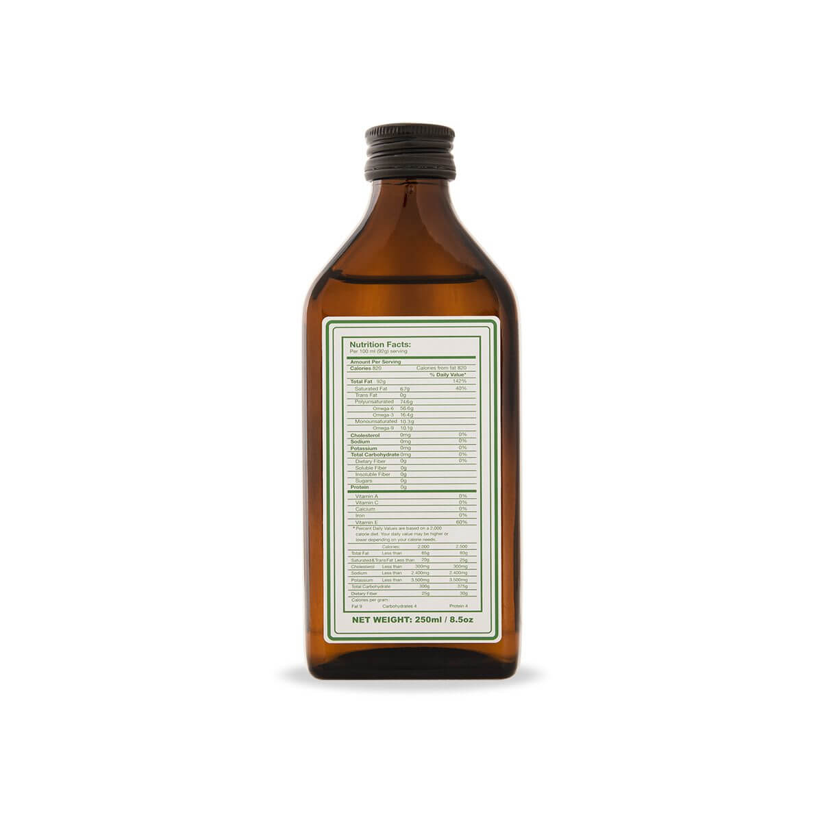 hemp seed oil label