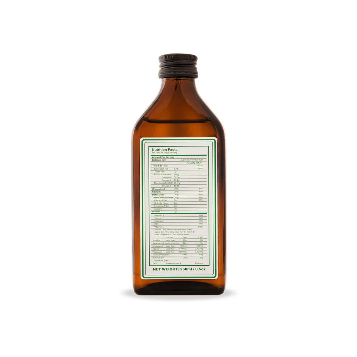 hemp seed oil label
