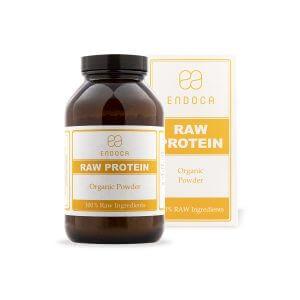 Organic raw hemp protein front