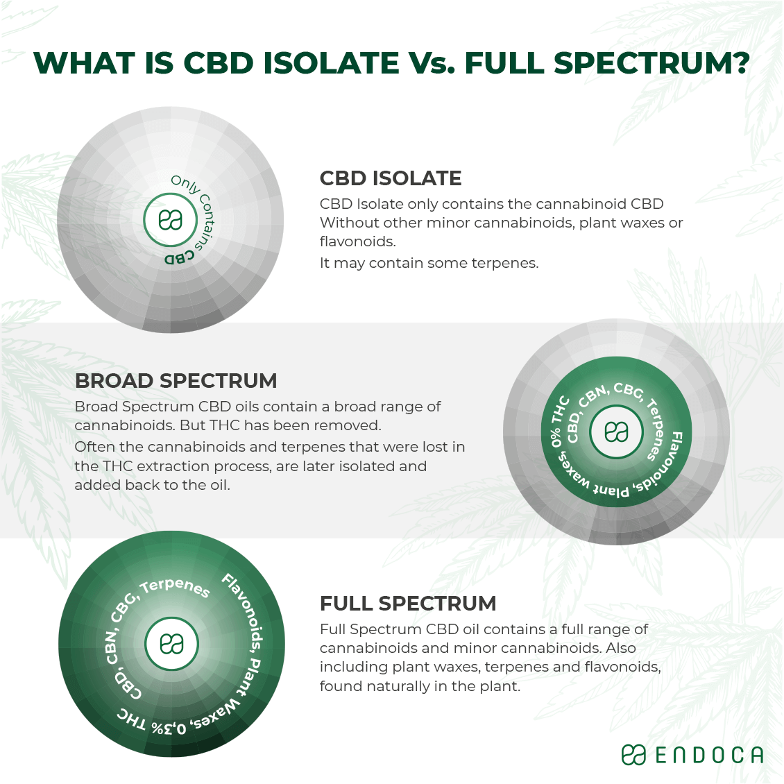 CBD isolate vs full spectrum CBD oil