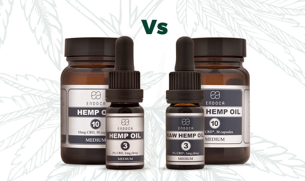 Raw CBD vs Decarb CBD