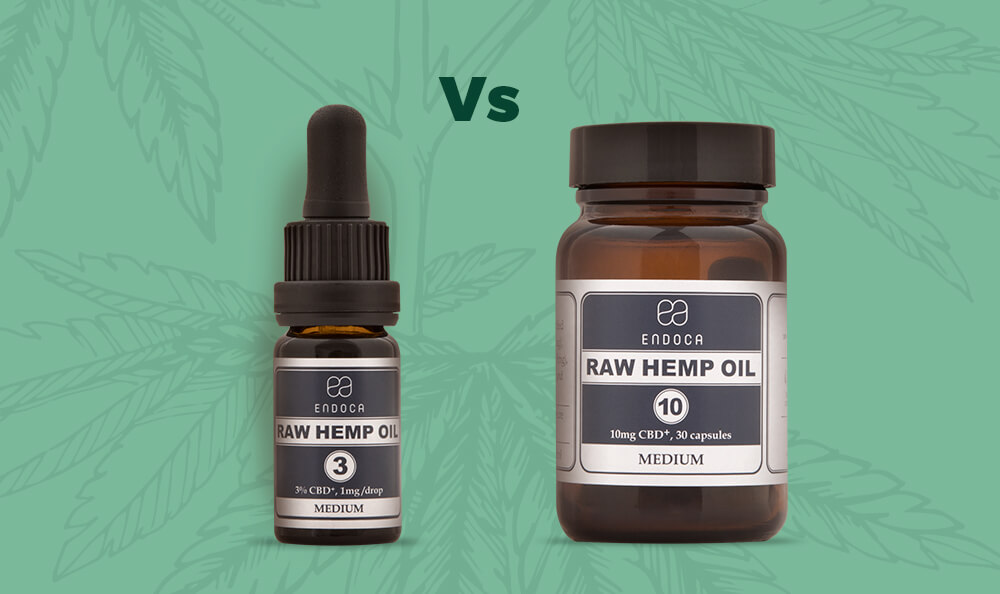CBD oil vs CBD capsules