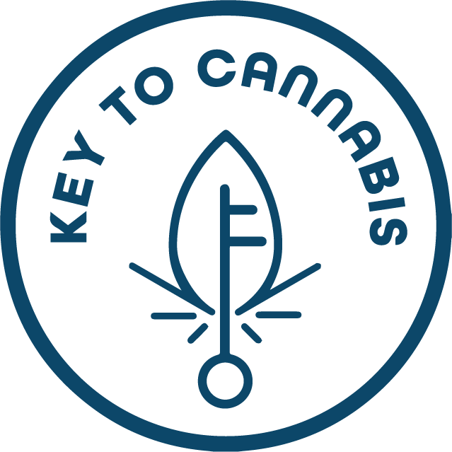 Key to cannabis logo