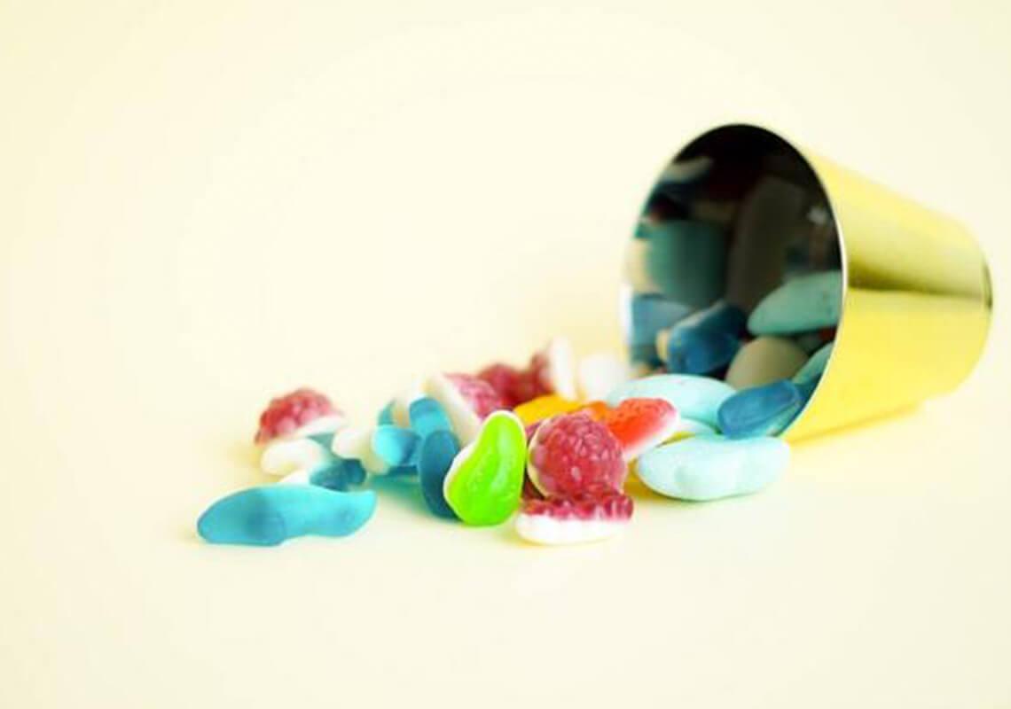 Colourful CBD gummies