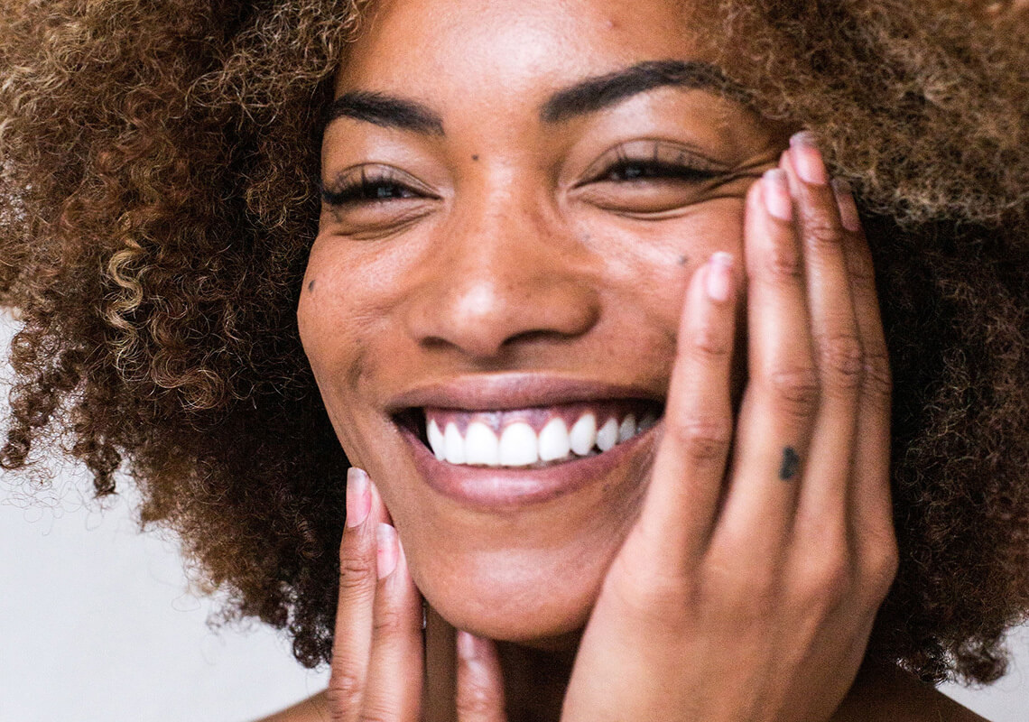 woman experiencing benefits of CBD skincare