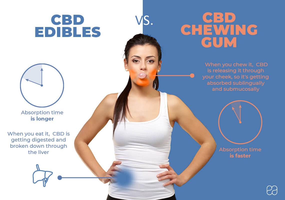 Infographic on CBD chewing gum