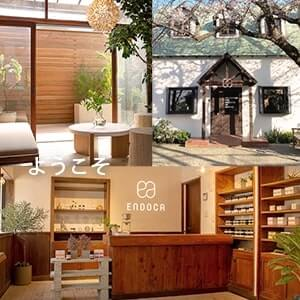 Endoca CBD store in Japan with wooden interior